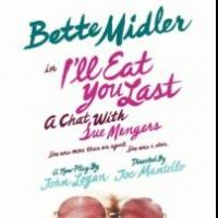 Tickets Go on Sale to Public Today for I'LL EAT YOU LAST, Starring Bette Midler