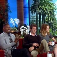 VIDEO: Sneak Peek - Emma Stone, Andrew Garfield & Jamie Foxx Chat AMAZING SPIDER-MAN on Today's Ellen!
