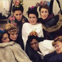 Photo Flash: Saturday Intermission Pics - Jan. 31 Part 2 - ON THE TOWN Ladies Bundle Up Backstage, and More!