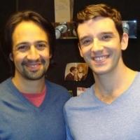 Photo Flash Exclusive: Lin-Manuel Miranda Visits Michael Urie at BUYER & CELLAR