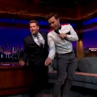 VIDEO: Olly Murs & James Corden Sing 'Wrapped Up' & 'Treasure' Mashup on LATE LATE SHOW