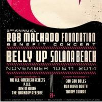 ROB MACHADO Foundation Announces Benefit Concerts for November