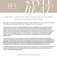 Harlem's Fashion Row Presents Style Beat for the Grammys