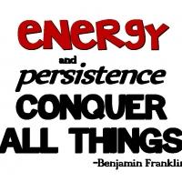 Fitness Tip of the Day: Energy and Persistence