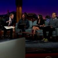 VIDEO: Jordana Brewster, Dave Grohl & Rainn Wilson Sketch Nude Model on JAMES CORDEN