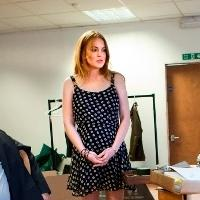 Lindsay Lohan Tweets From SPEED-THE-PLOW Rehearsals