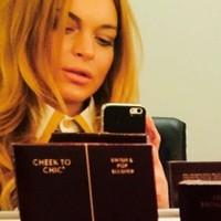 Lindsay Lohan Shares Backstage Selfie From SPEED-THE-PLOW Opening Night