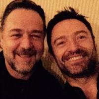 LES MIZ Reunion! Hugh Jackman & Russell Crowe Share A Selfie & WATER DIVINER Love