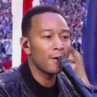 VIDEO: John Legend Performs 'America, the Beautiful' at the Super Bowl XLIX