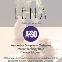 The Ann Arbor Symphony Orchestra Partners with Lena for an All-Day Fundraiser Today