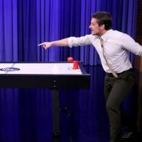 VIDEO: Josh Hutcherson Plays Beer Hockey, Talks HUNGER GAMES & More on TONIGHT SHOW