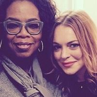 Oprah Winfrey & Lupita Nyong'o Visit Lindsay Lohan At SPEED-THE-PLOW