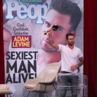 VIDEO: Adam Levine Accepts People's 'Sexiest Man Alive' Award on KIMMEL