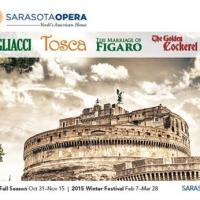 Single Tickets for Sarasota Opera's 2014-2015 Fall and Winter Season To Go On Sale, 9/2