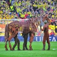 Photo Flash: WAR HORSE's Joey Visits Wembley for UEFA Champions League Final