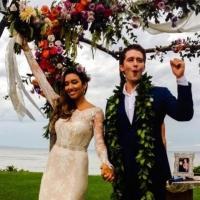 Photo Flash: Matthew Morrison & Renee Puente Marry in Maui!