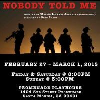 BWW Interview: NOBODY TOLD ME Proves the Transformative Power of Theater to Full Scope Veterans and Theatre by the Blind Actors