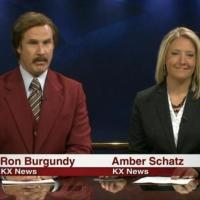 VIDEO: Ron Burgundy Co-Anchors Local Newscast in North Dakota
