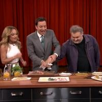 VIDEO: Giada, Jimmy, Artie, Questlove Cook on Fallon... What Could Go Wrong?
