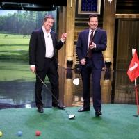 VIDEO: Hugh Grant & Charles Barkley Play Hallway Golf on TONIGHT SHOW