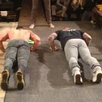 Hugh Jackman Gives Push-up Lessons for BC/EFA