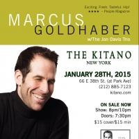 Marcus Goldhaber Returns to Manhattan Tonight at The Kitano