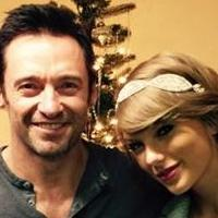 Taylor Swift Visits Hugh Jackman Backstage At THE RIVER & Pair Pose For Holiday Photo