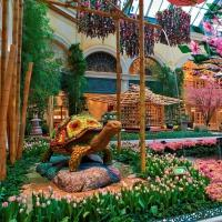 Bellagio Celebrates Japanese Culture with Vibrant Spring Conservatory Display and Art Installation by Renowned Sculptor Masatoshi Izumi