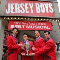 Photo Flash: JERSEY BOYS Cast Poses with US Open Trophy
