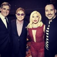 Photo: Lady Gaga Gives Surprise Performance to Honor Elton John & David Furnish