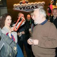 Photo Flash: Stephen Sondheim Stops by The Nederlander for HONEYMOON IN VEGAS' Valentine's Festivities!