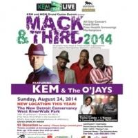 KEM and MGM Grand Casino Detroit to Host 2014 MACK & THIRD LIVE Concert, Fundraiser and Food Drive This Sunday