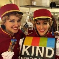 Photo Flash: Saturday Intermission Pics 8/02- BULLETS Cast Shows Off Healthy Snacks, and More!