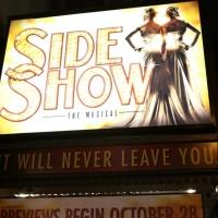 Up on the Marquee: SIDE SHOW on Broadway