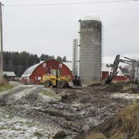 Photo Flash: The Latest Dirt from Weston Playhouse - Construction Begins at Walker Farmstead
