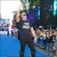 Vin Diesel Puts Hand & Footprints in Cement at TCL Chinese Theater