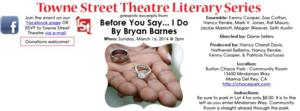 Towne Street Theatre to Continue Reading Series with BEFORE YOU SAY... I DO, 3/16