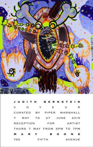 Judith Bernstein Exhibit Opens 5/7 at Mary Boone Gallery