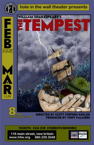 THE TEMPEST Storms Through Hole in the Wall Theater, Now thru 3/8