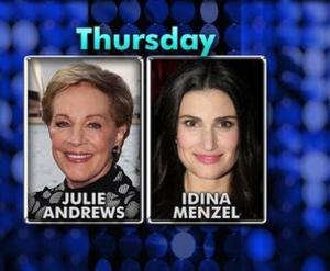 DVR Alert! Idina Menzel, Julie Andrews Appear Together on Bravo's WATCH WHAT HAPPENS Tonight