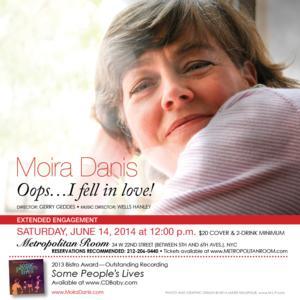 Moira Danis Returns to the Metropolitan Room, 6/14