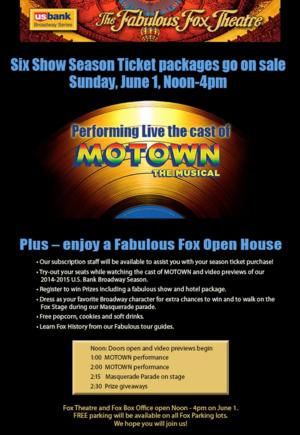 Fox Theatre to Host Open House & Season Preview Event, 6/1