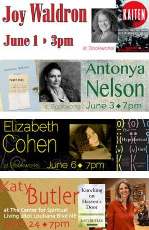 This June at Bookworks Includes Joy Waldron, Antonya Nelson and More