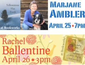 This Week at Bookworks Includes Marjane Ambler, Rachel Ballentine and More