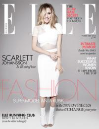 CAT ON A HOT TIN ROOF's Scarlett Johansson to Grace ELLE UK's February 2013 Cover