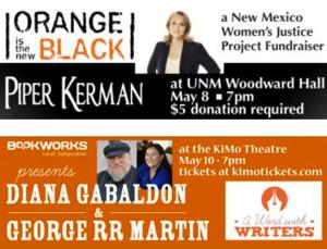 This Week at Bookworks Includes Piper Kerman, A Word with Writers Diana Gabaldon & George RR Martin and More