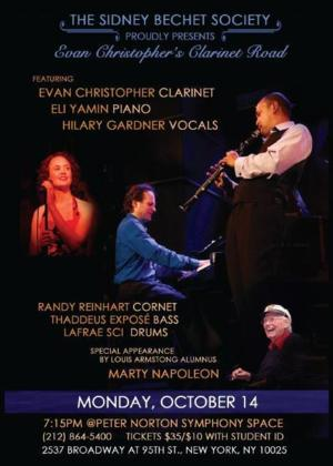 Sidney Bechet Society to Present Evan Christopher's Clarinet Road Today