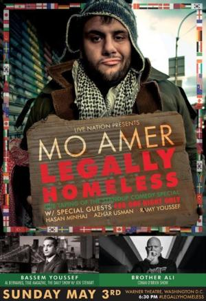 Palestinian-American Comic Mo Amer to Bring LEGALLY HOMELESS to D.C., 5/3