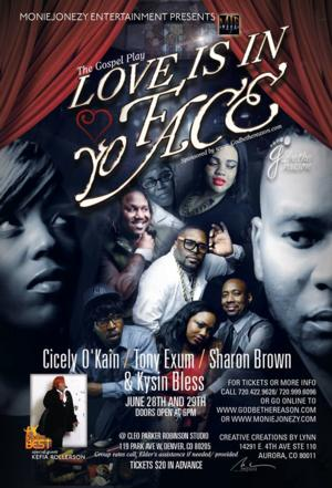 LOVE IS IN YO FACE to Play Cleo Parker Robinson Dance Studio, 6/28-29