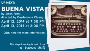 BUENA VISTA Reading Set for Profile Theatre's 'In Dialogue' Series This Weekend
